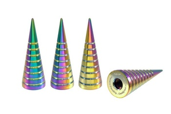True Spike Lug Nut Caps - Spiral - 25 mm / 73 mm