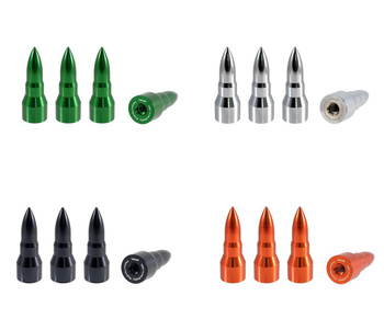 True Spike Lug Nut Caps - Bullet - 25 mm / 73 mm
